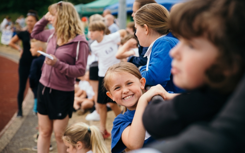 Big smiles at NWPSSA athletics at Tamworth Stadium